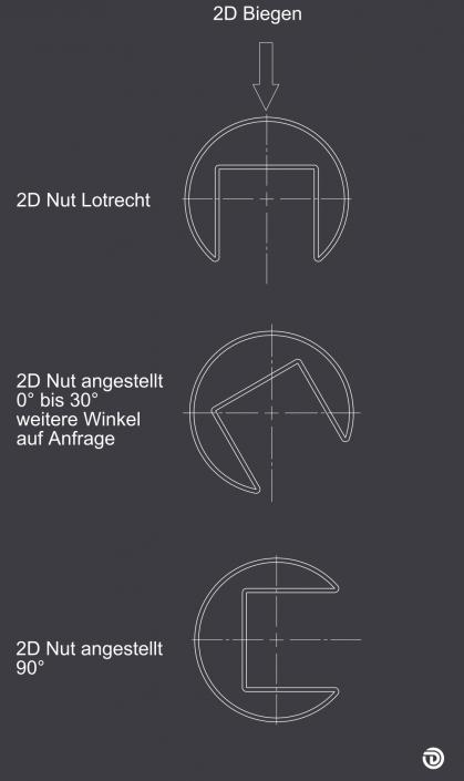 DAIDALOS® maßgeschneidert - 2D-Biegen mit Winkel auf Anfrage