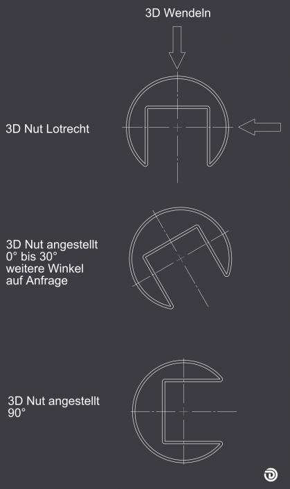 DAIDALOS® maßgeschneidert - 3D-Wendeln mit Winkel auf Anfrage
